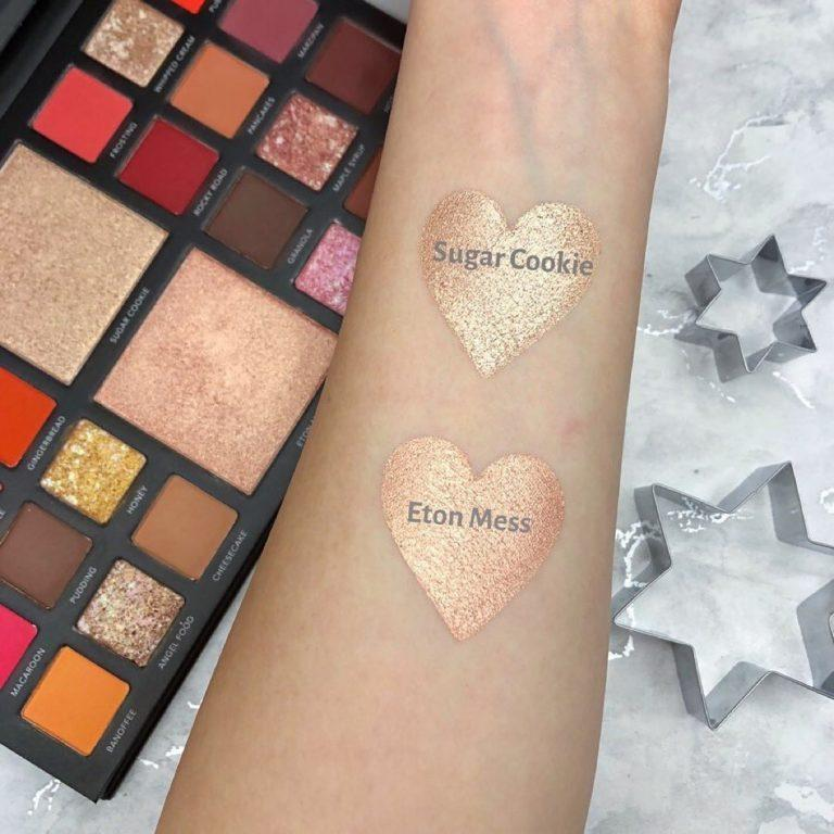 LaRoc Cosmetics The Chocolate Box Palette Highlighters Arm Swatches