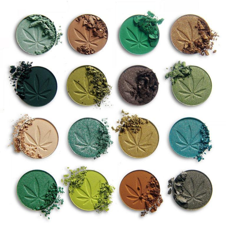 Makeup Obsession So Dope Shadow Palette with Cannabis Sativa Crash Swatches