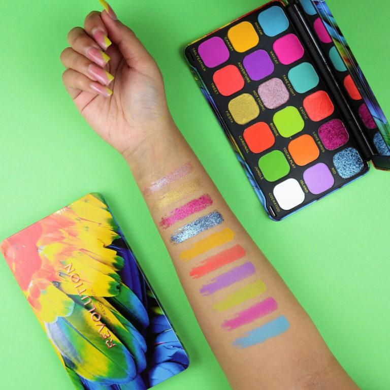 Makeup Revolution Forever Flawless Birds of Paradise Palette Arm Swatches