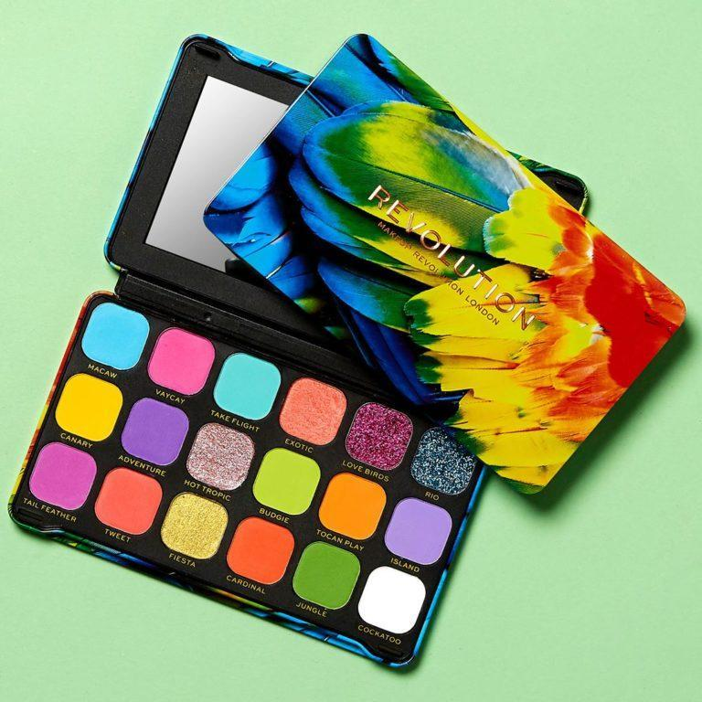 Makeup Revolution Forever Flawless Birds of Paradise Palette Open & Closed