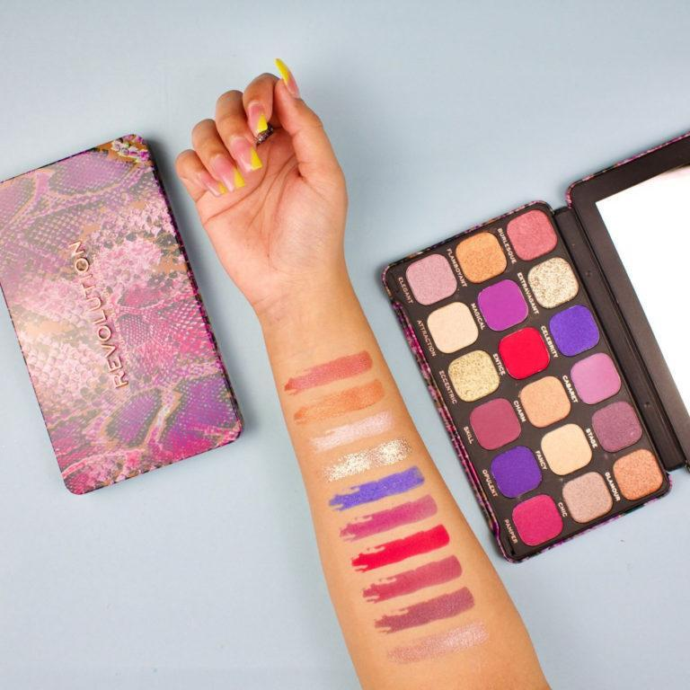 Makeup Revolution Forever Flawless Show Stopper Palette Arm Swatches