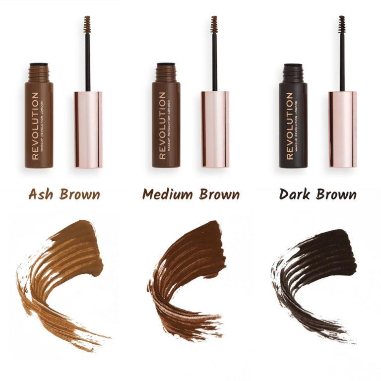 Makeup Revolution New Eyebrow Products Brow Gel Open With Swatches