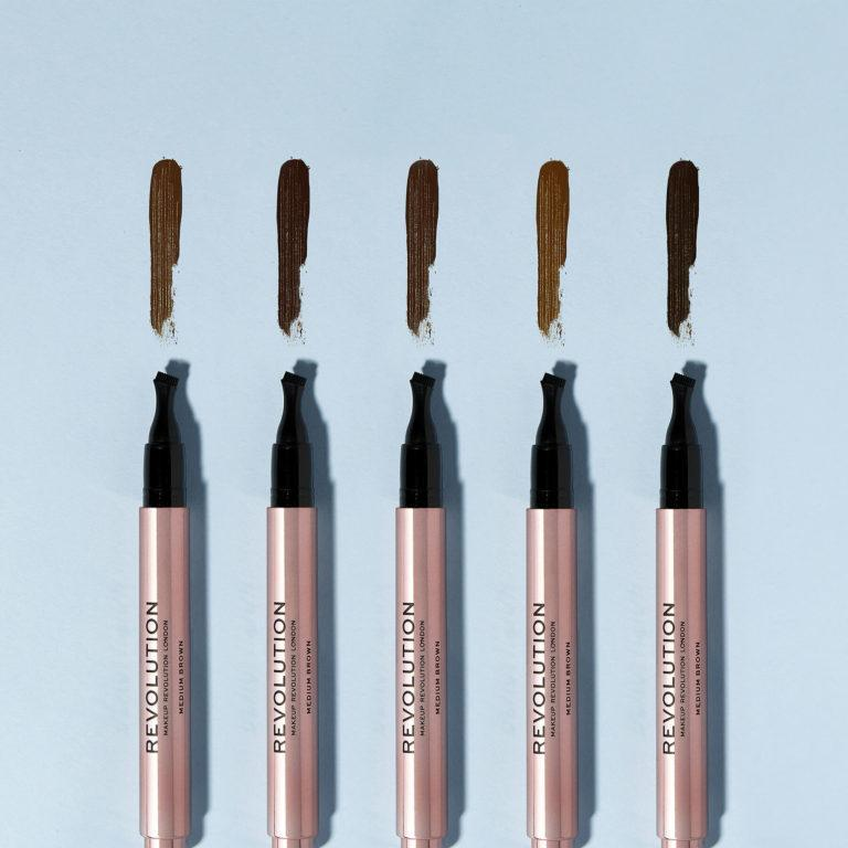 Makeup Revolution New Eyebrow Products Fast Brow Pen Pomade Swatches