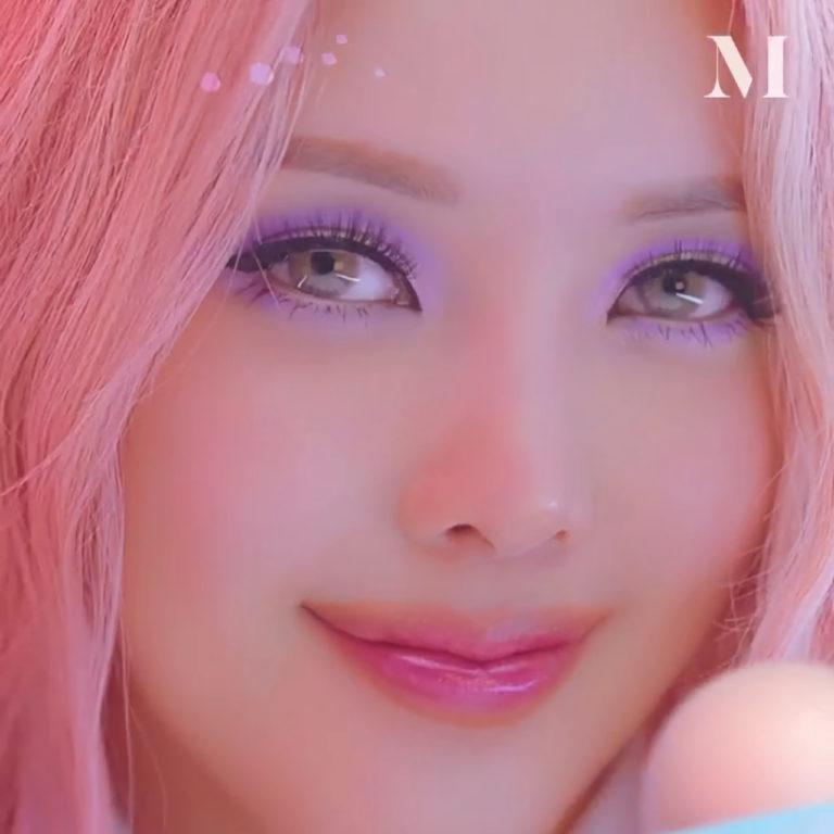 Morphe x Pony Icy Fantasy Pony Makeup