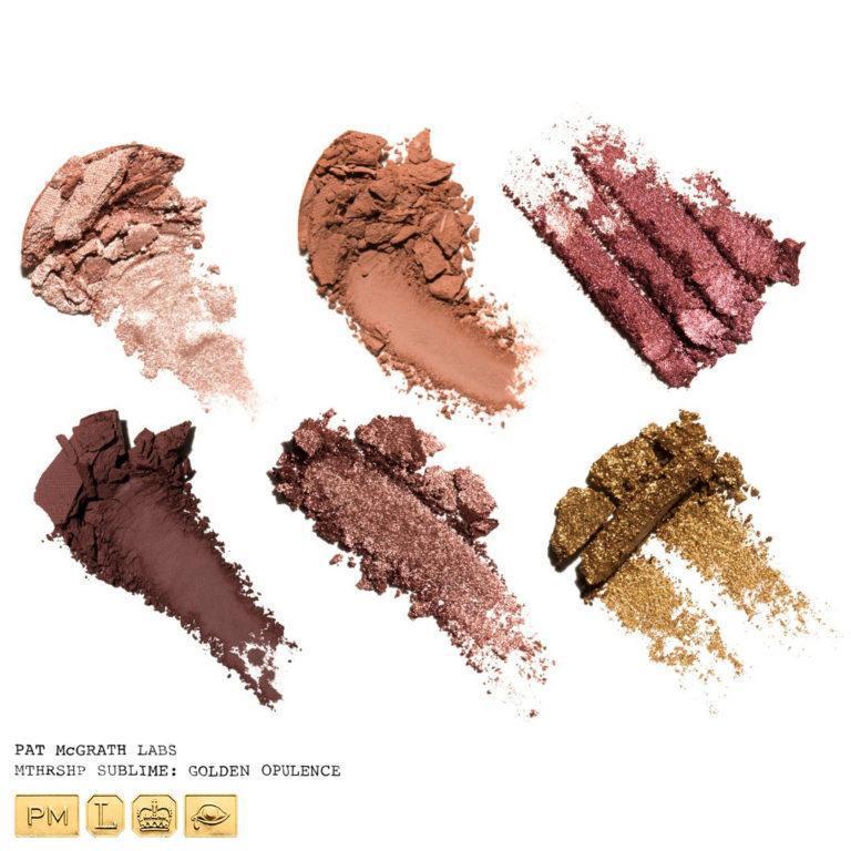 Pat McGrath Labs MTHRSHP Sublime Golden Opulence Eyeshadow Palette Crash Swatches