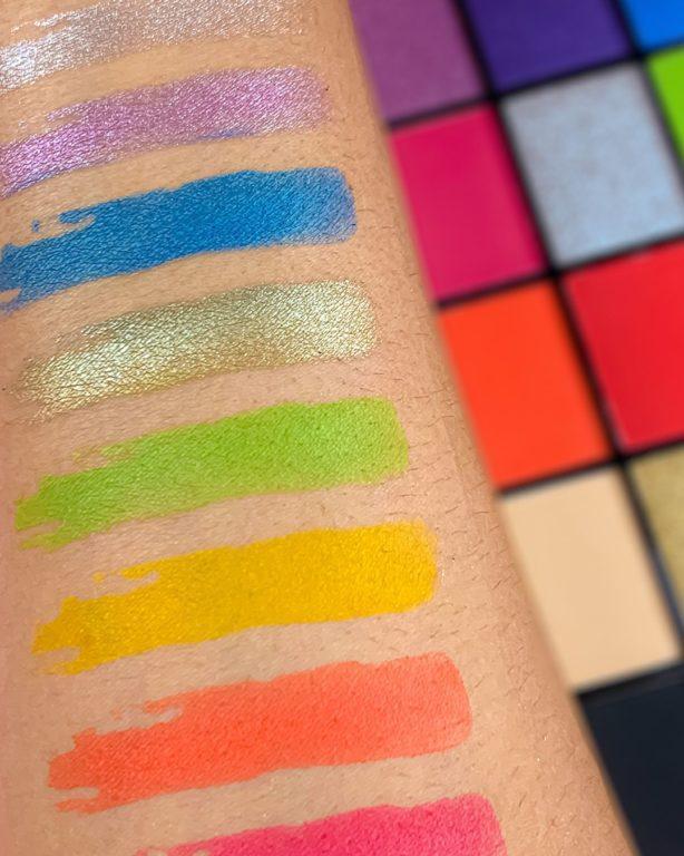 Revolution Reloaded palettes Euphoria Swatch