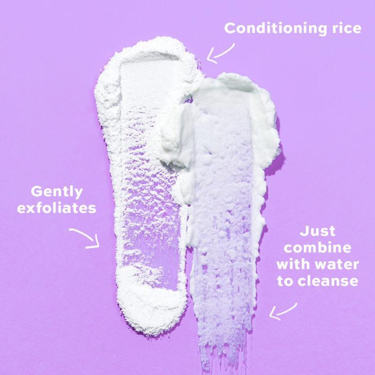 Revolution Skincare Cleansing Powders Conditioning Rice Powder Swatches