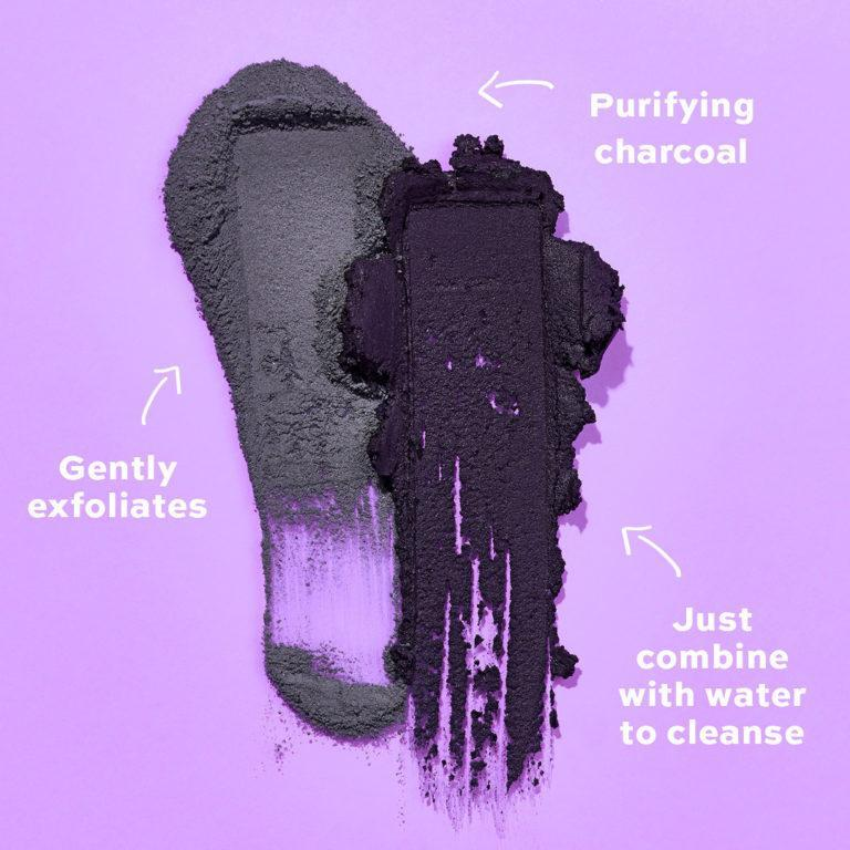 Revolution Skincare Cleansing Powders Purifying Charcoal Swatches