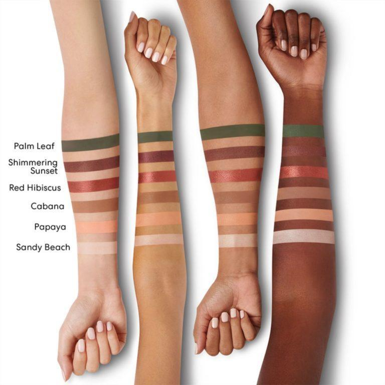 The Beauty of Nature GEN NUDE Eyeshadow Palette Natural Oasis Arm Swatches
