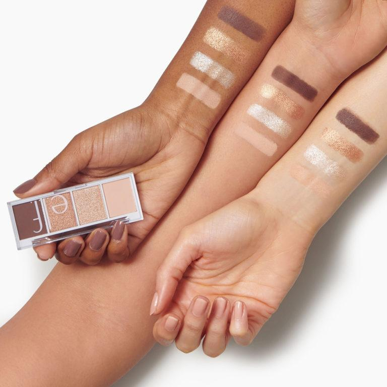 e.l.f. Cosmetics Bite Size Eyeshadows Arm Swatches Cream & Sugar