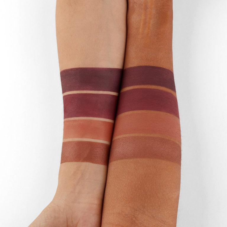 BH Cosmetics Truffle Blush Chocolate Marshmallow brown, deep purple tones