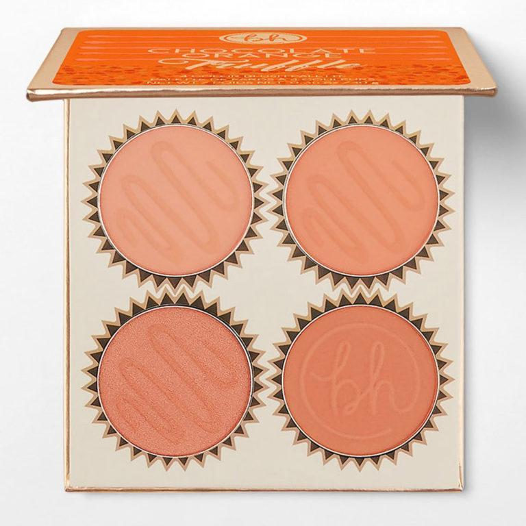 BH Cosmetics Truffle Blush Chocolate Orange Palette Open