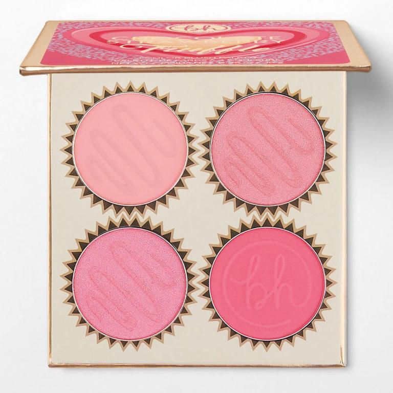 BH Cosmetics Truffle Blush Chocolate Strawberry Palette Open