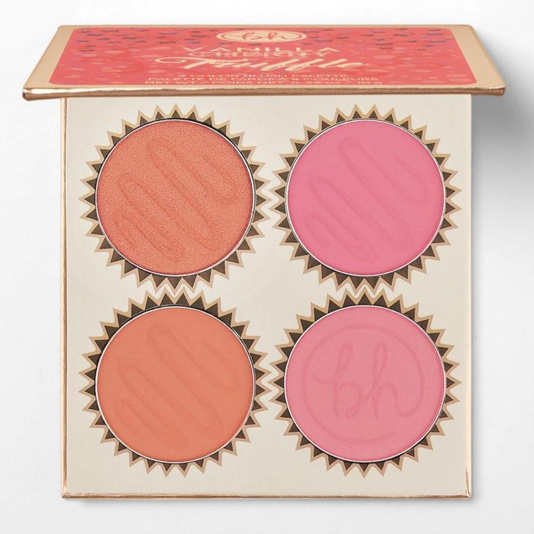 BH Cosmetics Truffle Blush Vanilla Peach Palette Open