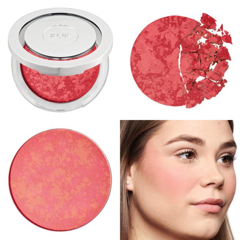 Blushing Act Skin Perfecting Powder in Berry Beautiful (dark) Collage