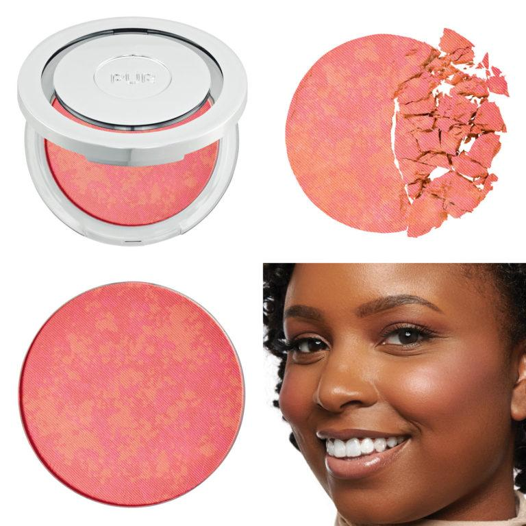Blushing Act Skin Perfecting Powder in Pretty in Peach (light) Collage