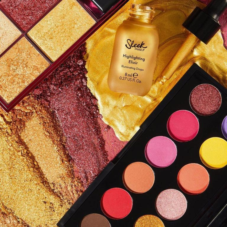 Chasing the Sun i Divine Palette, Highlighting Palette Fire it Up & Highlighting Elixir Drippin Alt