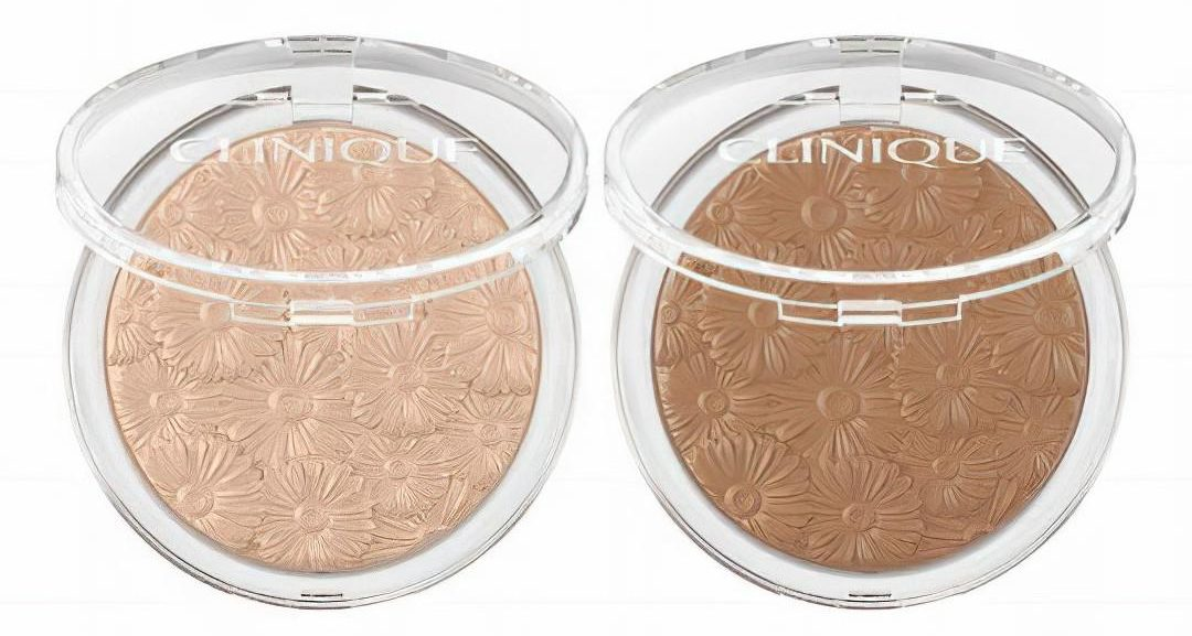 Clinique Lip Balms, Bronzer & Highlighter Powder Pop Flower Highlighter in Luna Pop & Bronzer on Solar Pop