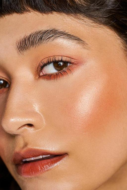 EM Cosmetics Heaven's Glow Radiant Veil Blush in Faded Clementine Swatch Medium