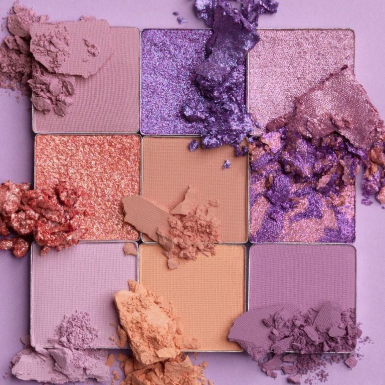 Huda Beauty Pastels Lilac Palette Crash Swatches