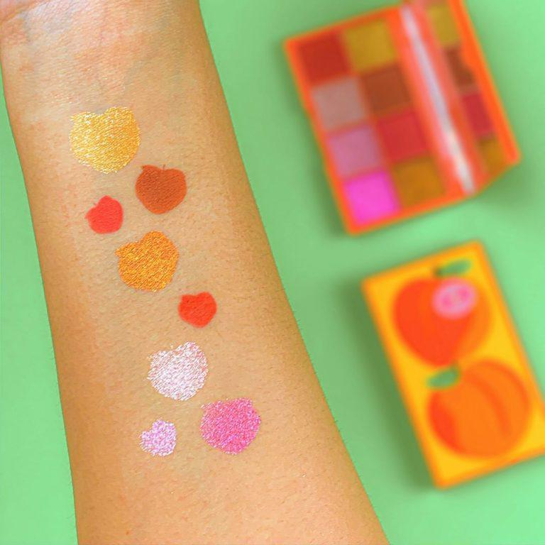 I Heart Revolution Mini Tasty Shadow Palette Peach Arm Swatches