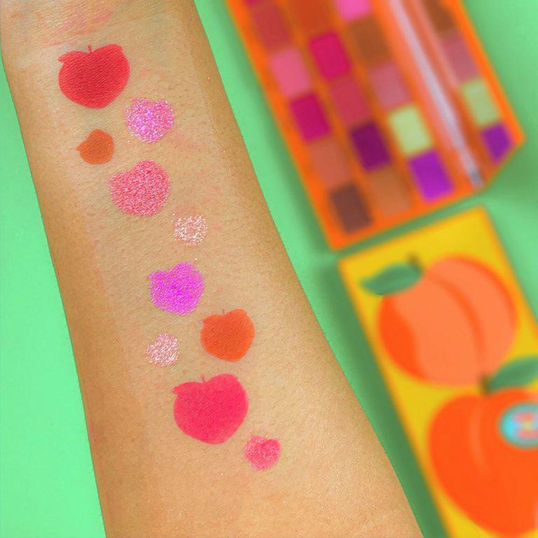I Heart Revolution Tasty Shadow Palette Peach Arm Swatches 1