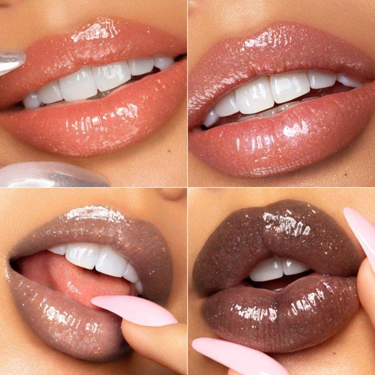 Melt Cosmetics Modern Love Collection Crushed Glitter Lip Gloss Lip Swatches