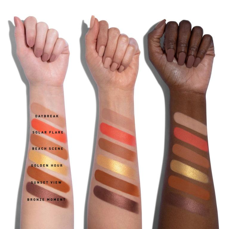 Morphe Here Comes The Stun Collection 18S Sunset Beats Artistry Palette Arm Swatches Row 2