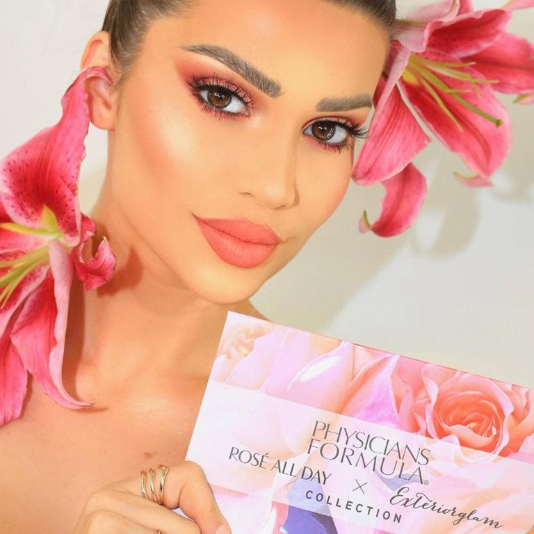 Physicians Formula Rosé All Day x Exteriorglam Collection Model