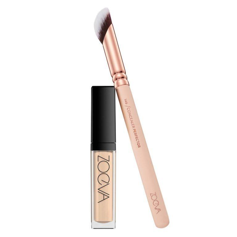 Zoeva Cosmetics Authentik Skin Perfector Concealer Product And 146 Concealer Perfector Brush