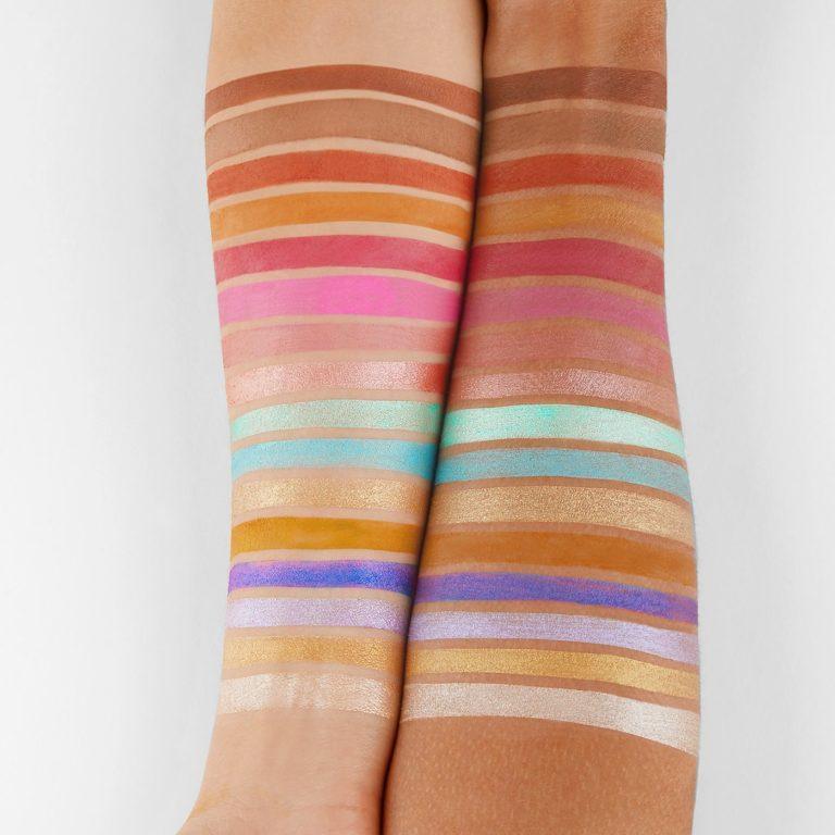 BH Cosmetics Colori Vivaci Palette Arm Swatches