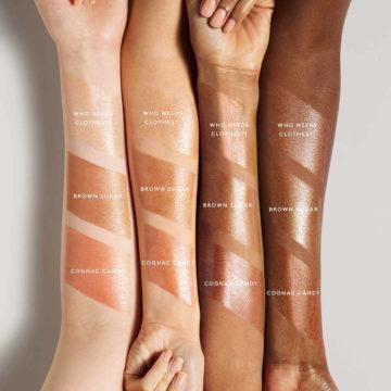 Body Lava Body Luminizer In Cognac Candy Arm Swatches
