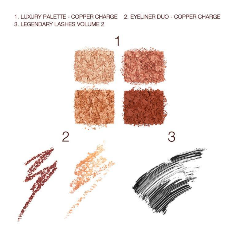 Charlotte Tilbury Copper Charge Magic Trick Kit Swatches