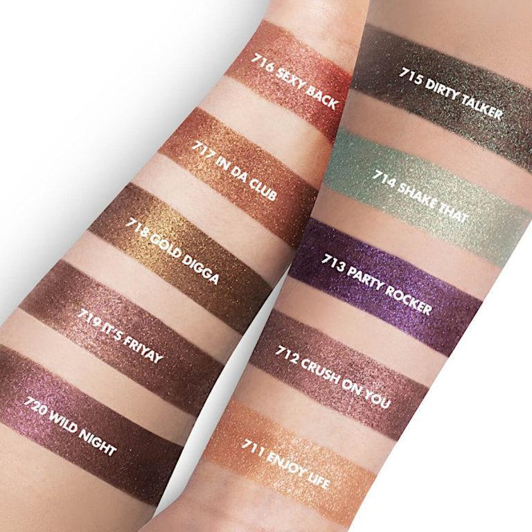 Inglot Cosmetics Partylicious 2.0 Freedom System Creamy Eyeshadows Arm Swatches