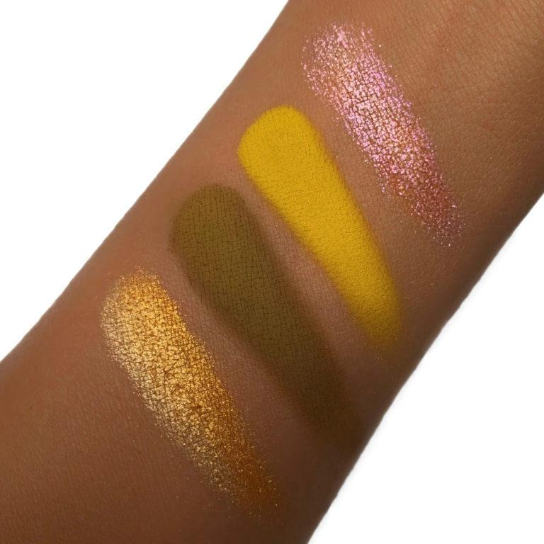 Love Luxe Beauty Honey Honey Chrome Quad Arm Swatches