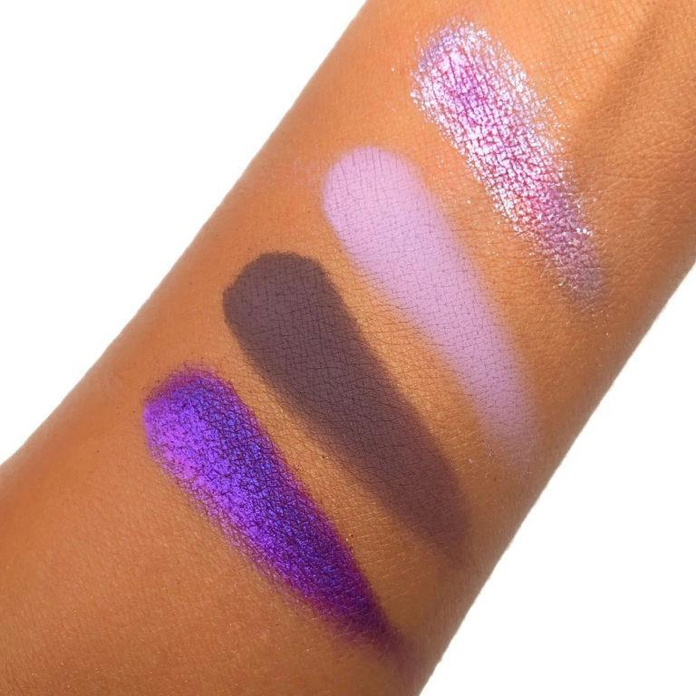 Love Luxe Beauty Lush Lavender Chrome Quad Arm Swatches
