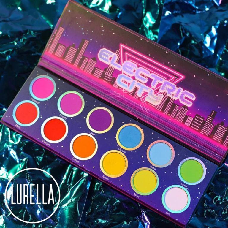 Lurella Cosmetics Electric City Eyeshadow Palette Open Logo