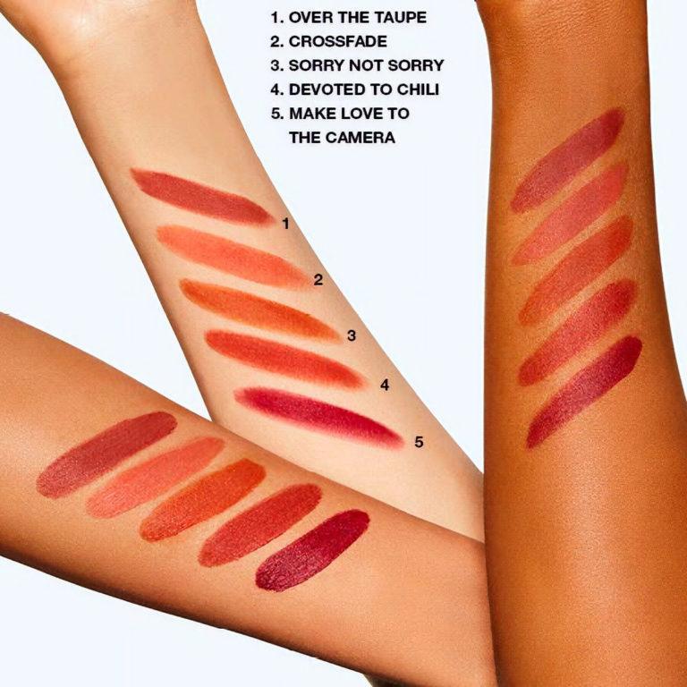 MAC Cosmetics New Powder Kiss Liquid Lipstick Arm Swatches 3