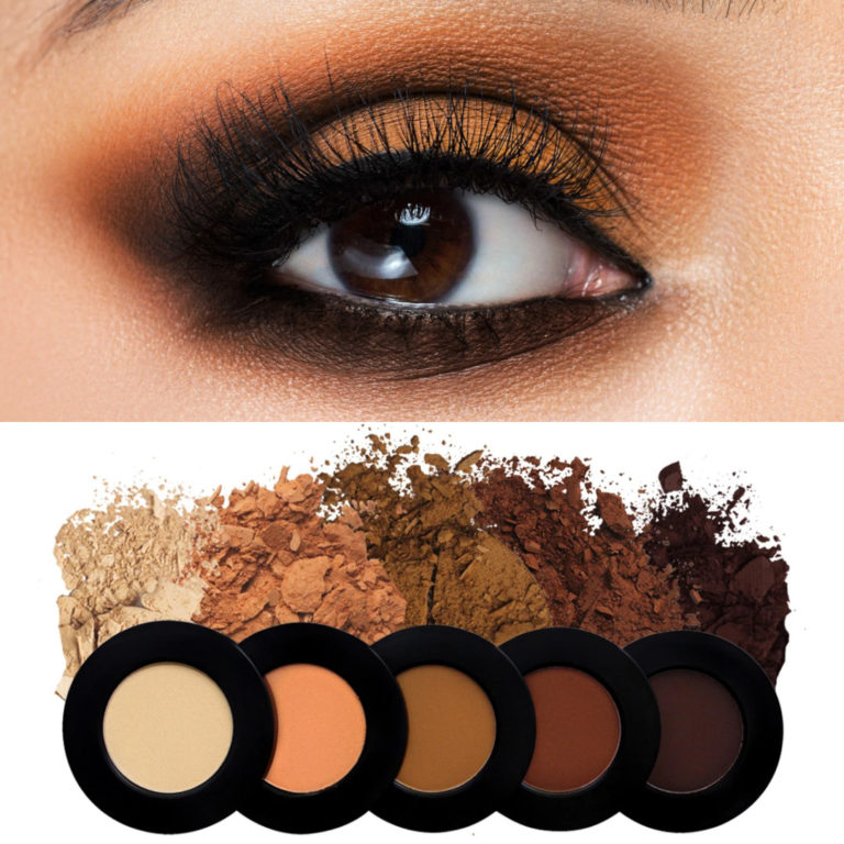 Melt Cosmetics Rust Stack Revised With Eye Swatch