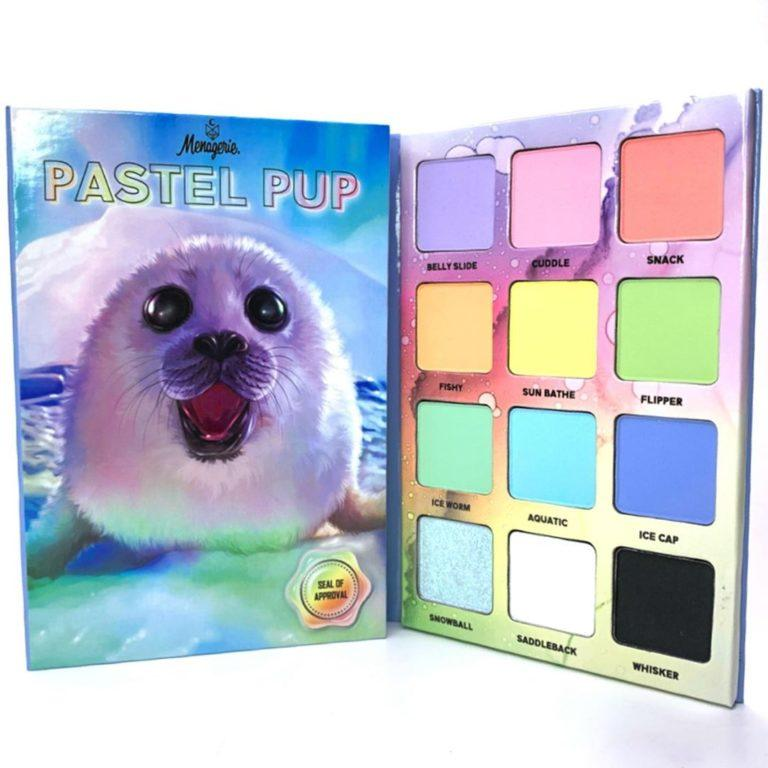 Menagerie Cosmetics Pastel Pup Palette Open