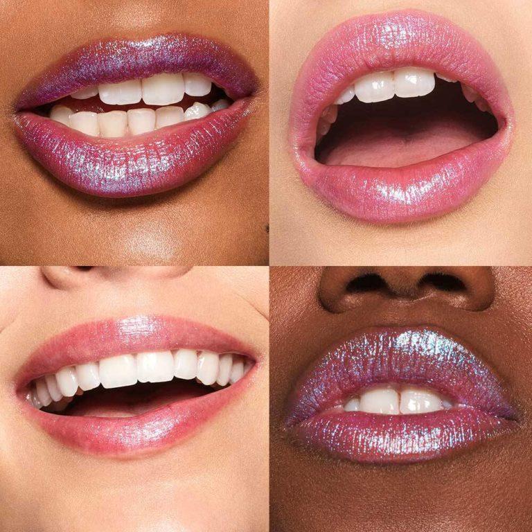 Moondust Lip Eclipse Shimmer Lipstick in Retrograde Lip Swatches