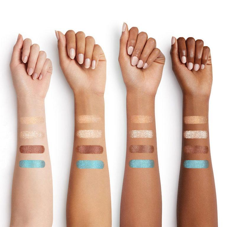 NARS Summer 2020 Paradise Found Bronze Collection Powerchrome Loose Eye Pigment Arm Swatches