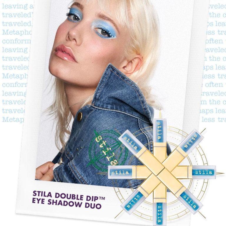 Stila Double Dip™ Suede Shade™ & Glitter & Glow Liquid Eye Shadows Model 1