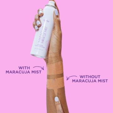 Tarte Maracuja Miracle Mist Setting Spray With Without