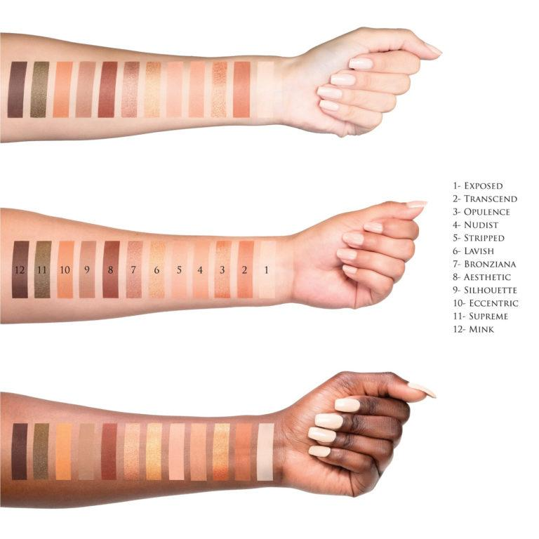 Artist Couture Supreme Nudes Palette Swatches