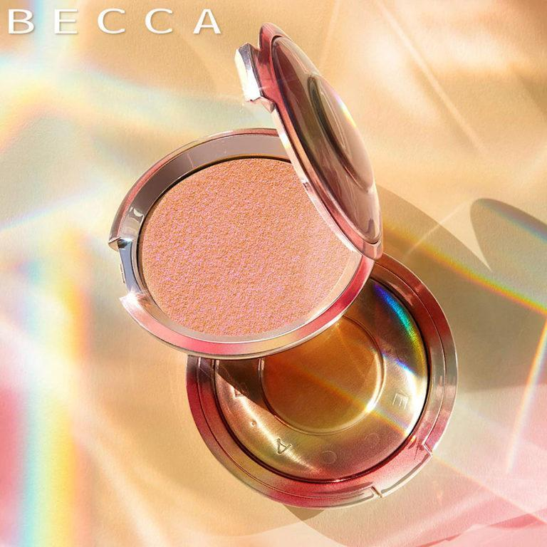 BECCA Cosmetics Shimmering Skin Perfector™ Pressed Highlighter Limited Edition in Own Your Light Post Cover Logo
