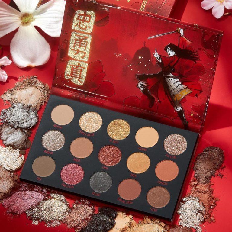 Colourpop x Mulan Eyeshadow Palette promo