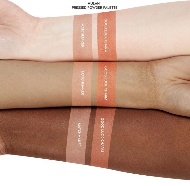 Colourpop x Mulan Pressed Powder Blush Swatches