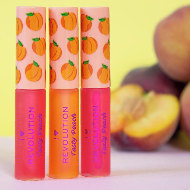 I Heart Revolution Tasty Peach Collection Lip Oils Promo
