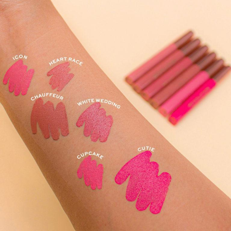 Makeup Revolution Velvet Kiss Lip Crayon Arm Swatches 1